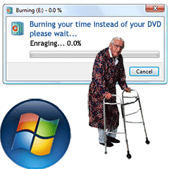 Windows DVD Maker Encodes Slow Encoding Burning